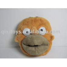stuffed plush monkey indoor shoes, soft kid's animal slipper toy