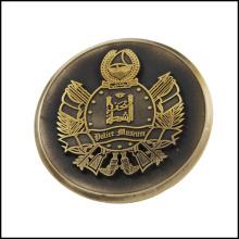 Oro antiguo plateó la moneda de cobre del metal (GZHY-JZ-013)