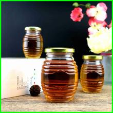 Venta al por mayor de conservas de Jarro de vidrio Jam y jalea de Jar Jar de vidrio transparente de miel transparente