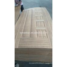 Garniture de meuble porte en mélamine, sculpture sur bois, dessin de peau, placage