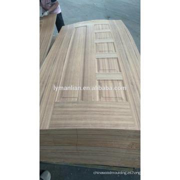 Acabado de muebles Puerta de melamina tallado en madera con diseño de chapa