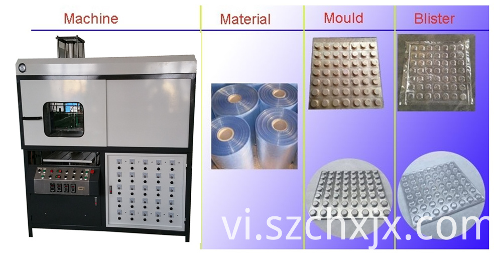 Automatic furnace plastic tray vaccum forming machine working principles