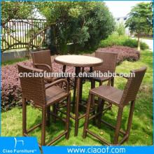 Tamborete de barra alta conjunto jardim linha pátio mobiliário