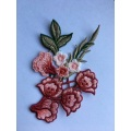 Water Soluble Beautiful Flower Embroidery Lace Patches