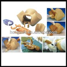 Simulador avanzado del parto de la ISO, mujer embarazada y modelo del bebé