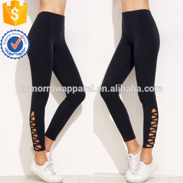 Leggings de dobladillo negro OEM / ODM Manufacture Wholesale Fashion Women Apparel (TA7001L)