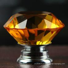 Nouveau Poignée de Cabinet Bouton de Poignée en Verre Cristal