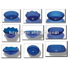 Transport bleu beau vase vitre vasque bol