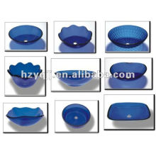 Синий транспорт красивый сосуд стеклянная раковина чаша