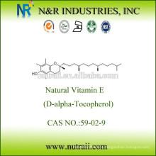 Aceite natural de vitamina E Mezcla de tocoferoles 50% / 70% / 90% / 95% Garantía comercial