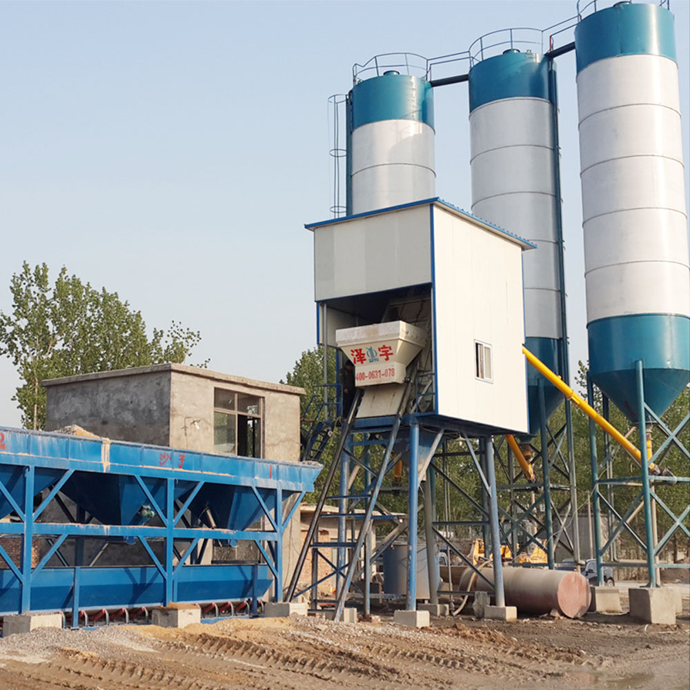 hopper lift mixing ready concrete batching plant