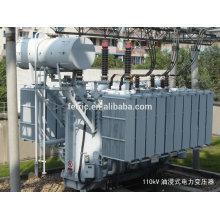 Triphasé huile immergé type cuivre sinueuse plaie base faible perte 35kv 66kv 110kv 132kV 220kV 28mva transformateur de puissance