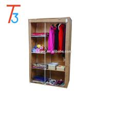 Armario no tejido del dormitorio, gabinete plegable del armario del armario para la venta