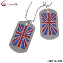 Оптовые продажи эмали Великобритании Флаг собака тег для подарка (LM1612)