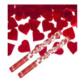 Confetti Cannon twist 60cm with Red Hearts tissue Engagement Wedding Birthday