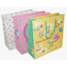 Paper Shopping Bag with Handle and Customized Logo