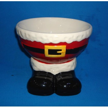 Santa Feet Shaped Ceramic Candy Bowl