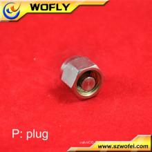 Capacité de 3/8 pouces Capuchon de tube de 1000 psig Raccordement du connecteur de l'adaptateur industriel