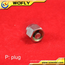"1/4"" 6mm 3/8"" 8mm OD small pipe screw plug adaptor"