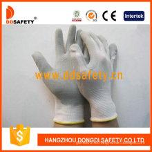 Guante de látex gris, guantes de nylon con bajo precio (DNL218)