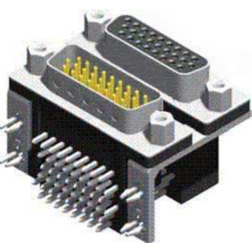 D-SUB PCB Dual Port Right AngleFemale TO Male