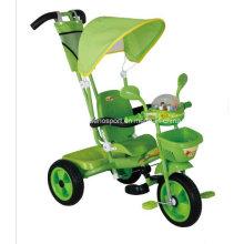 Triciclo de bebé de plástico precio barato con Canopy (TR3400SP)