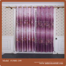 New designs printed curtain fabric and ready made curtains for living room