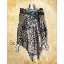 Вискозная пашминовая шаль с дизайном жаккарда