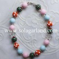 50CM Length Baby Girl Infant Toddler's Chunky Bubblegum Necklace