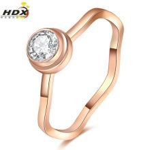 Moda jóias mulheres anel de aço inoxidável com diamantes (hdx1066)