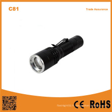 C81 Pen Clip Flexible Zoomable Head Torch Night Fishing Torch Outdoor