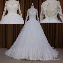 Реальный образец последние дизайн Сделано в Китае кружева свадебное платье