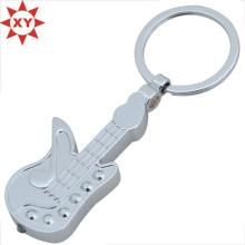 Geschenke Gitarre Form versilbert Schlüsselanhänger