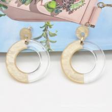2020 2021 custom minimalist two tone color post stud acrylic resin earrings jewelry
