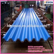 Azulejos de acero / revestimiento de color láminas de techo / láminas de techos ondulados