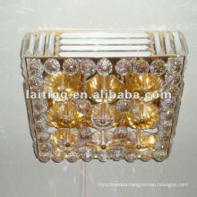 Square crystal ceiling glass lamp