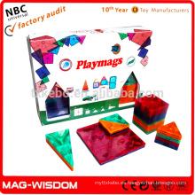 Playmags Nuevos bloques huecos de la construcción magnética 32pcs fijaron
