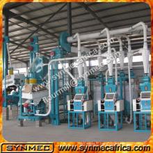 10-500 tonnes / jour capacité moulin à farine de maïs / maïs machine à broyer / maïs rectifieuse