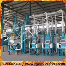 10-500 ton / day capacidade do moinho de farinha de milho / máquina de moagem de milho / máquina de moagem de milho