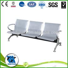 Silla hospital de silla de espera recubierta de acero
