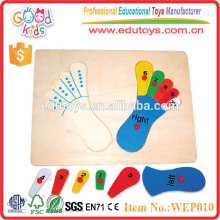 Wooden Puzzle Spiel - Fuß Puzzle