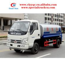 FOTON 4x2 4000liter Carbon Stahl Mini Trink Wassertanker zum Verkauf