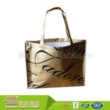 Por encargo de almacenamiento de gran tamaño uso bolsa de regalo no tejido de tela de bolso de la laminación de PP