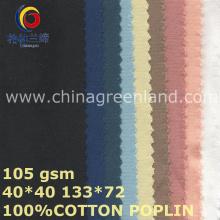 Plain Tecido de algodão sólido para vestuário indústria (GLLML447)