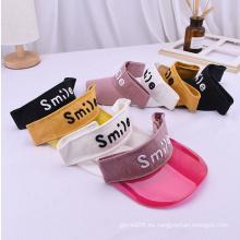 Gorras de visera de plástico para bebés sombreros para el sol recién nacidos