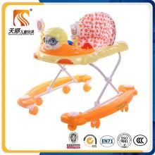 Roues pivotantes en plastique Baby Walker avec ceinture de sécurité