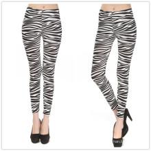 2016 Atacado Legging Zebra Stripes Mulheres Legging