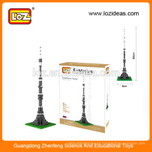 Modelos de arquitetura em miniatura da LOZ Ostankino Tower