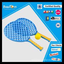 New design sport plastic toy set for kids blue paddle racket
