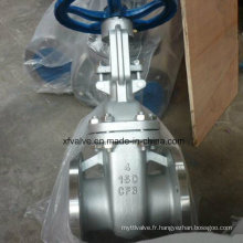 Valve de porte d'extrémité de connexion de bride de l'acier inoxydable CF8 de 150lb
